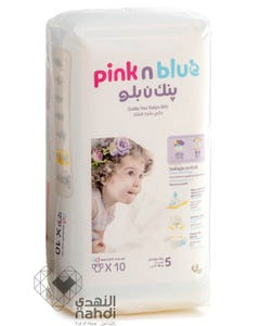 Pink n Blue Size (5) XLarge 11-18 Kg - 10 Diapers