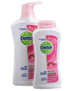 Dettol Shower Gel Skincare 500 + 250 ml Free