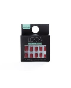 Loca Press On Nails Deep Red
