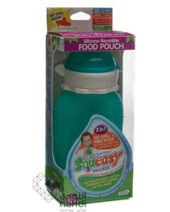 Squeasy Snacker 6 oz Aqua Blue