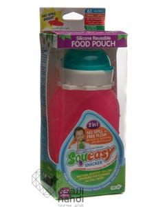 Squeasy Snacker 6 oz Pink