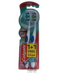 كولجيت فرشاة اسنان 360لنظافة الفم الكاملة - نعومه متوسط