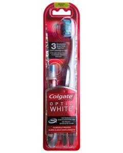 كولجيت فرشاة اسنان اوبتيك وايت 360 مع قلم تبيض اكتس متوسط