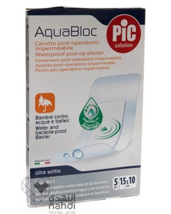 Pic Aquabloc Adhesive Post Operative Plasters 15*10 cm 5 pcs