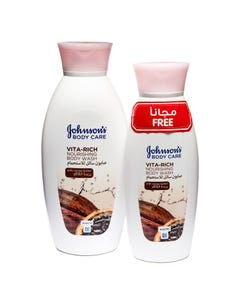 Johnson's Body Wash Vita-Rich Cocoa Butter 400 ml + 250 Free