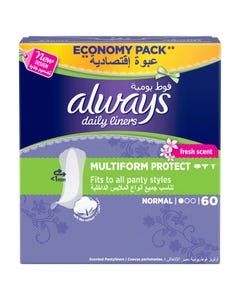 Always Pantyliner Multiform Protect Normal Fresh Scent 60 pcs
