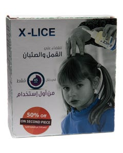 Xlice Lice And Nits Hygiene Care 110 ml Kit ( 50% On The Second pcs )