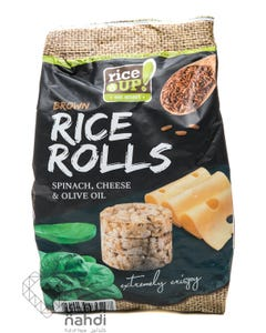 Rice Up  Brown Rice Rolls Spinach & Cheese & Olive Oil 50 gm