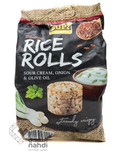Rice Up  Brown Rice Rolls Sour Cream & Onion & Olive Oil  50 gm