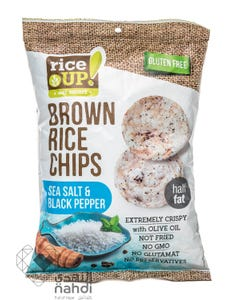 Rice Up  Brown Rice Chips Sea Salt & Black Pepper 60 gm