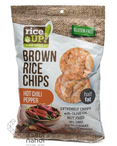 Rice Up  Brown Rice Chips Hot Chili Pepper 60 gm