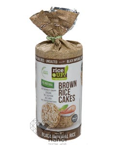 Rice Up  Brown Rice Cakes Black Imperial Rice Unsalted 120 gm