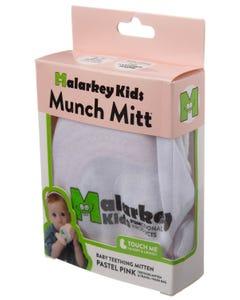 Munch Mitt Baby Teething Mitten Pastel Pink