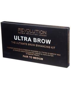 Revolution Ultra Brow Palette fair-medium