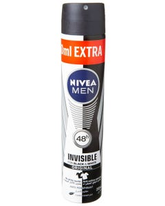 Nivea Spray Invisible Black & White For Men 150ml+50Extra