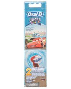 Oral-B Brush Heads Stages Power Refill 2 Pcs ( Cars )