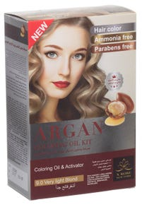 X-Rose Argan Oil Coloring Kit Very Light Blond 9.0