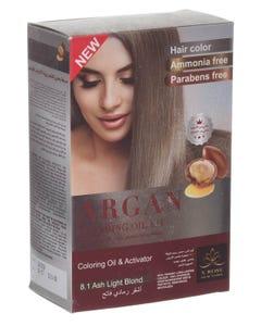 X-Rose Argan Oil Coloring Kit Light Ash Blond 8.1