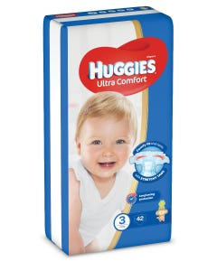 Huggies size (3) value pack 42 diapers 4-9 kg new
