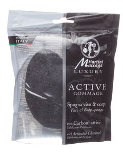 Martini Face & Body Sponge With Activated Charcoal