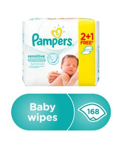 Pampers Baby Wipes Sensitive 2+1 Free
