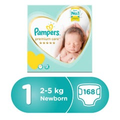 Pampers Premium Care Box Size(1)New Born 2-5 Kg 168 Diapers