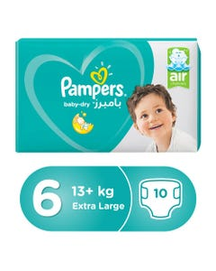Pampers Size (6) XXL 13+ Kg Carry Pack 10 Diapers