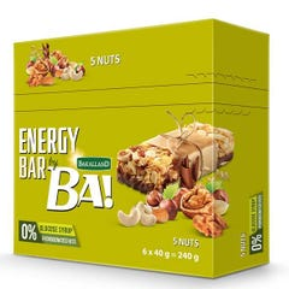 Bakalland Energy Bar with 5 Nuts 6*40 gm