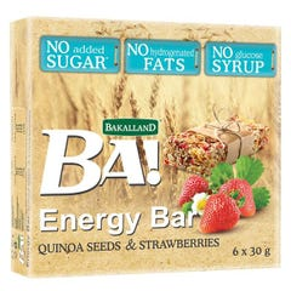 Bakalland Energy Bar with Strawberry & Quinoa 6*30 gm