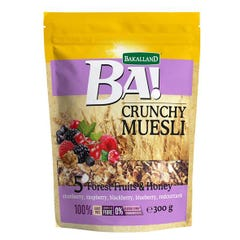 Bakalland Crunchy Muesli with 5 Forest Fruits & Honey 300 gm