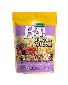 Bakalland Crunchy Muesli with 5 Forest Fruits & Honey 300 gm