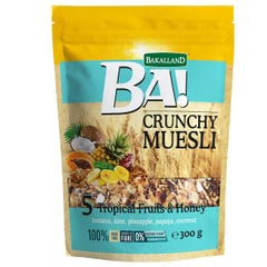 Bakalland Crunchy Muesli with 5 Tropical Fruits&Honey 300 gm