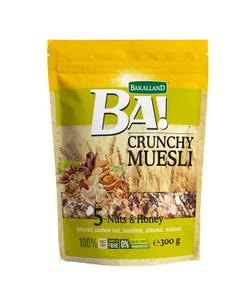 Bakalland Crunchy Muesli with 5 Nuts & Honey 300g gm