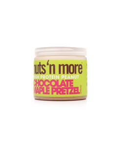Nuts And More High Protein And Peanut Chocolate Maple Pretzel Spread 454 gm