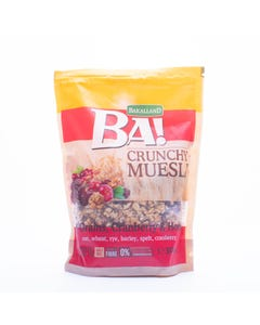 Bakalland Crunchy Muesli with 5 grains ,cranberry&Honey 300g