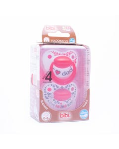Bibi Soothers Happiness Densil 0-6 Months - 2pcs