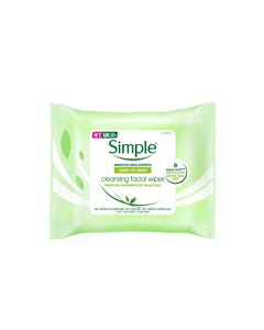 Simple Cleansing Facial Wipes Removes Waterproof Mascara 25 Pcs