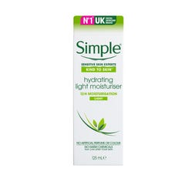 Simple Hydrating Light Moisturiser Cream 125 ml