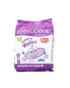 Kiddylicious Wafers Blueberry Maxi Bag 10 Packs * 4 Gm