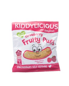 Kiddylicious Strawberry Fruity Puffs 10 Gm