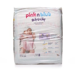 Pink N Blue Size 2 Small 3 6 Kg 64 Diapers