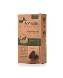 Biomagic Hair Color Cream Kit 8.72 Light Beige Blonde