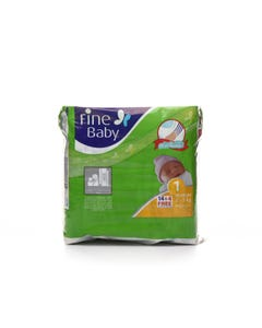 Fine Baby Size (1) New Born Carry Pack 18 Diapers