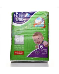 Fine Baby Size (6) Mega Pack 66 Diapers