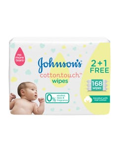 Johnson Baby Wipes Cotton Touch 56 wipes kit (2+1)
