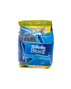 Gillette Razor Blue II Plus Promo Pack 15 pcs + 5 pcs Free