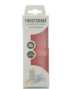 Twistshake Container 2x Pastel Pink 100 ml