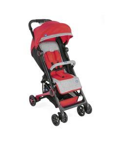 شيكو عربة أطفال مينيمو 2 مع حاجز أمامي لون أحمر