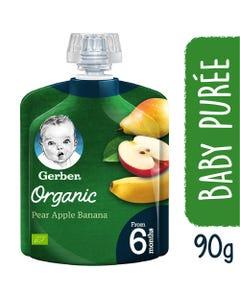 جربر طعام أطفال عضوي اجاص تفاح موز 90 جم +6أشهر