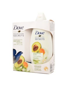 Dove Shower Gel With Avocado And Calendula 250 ML + Loufa